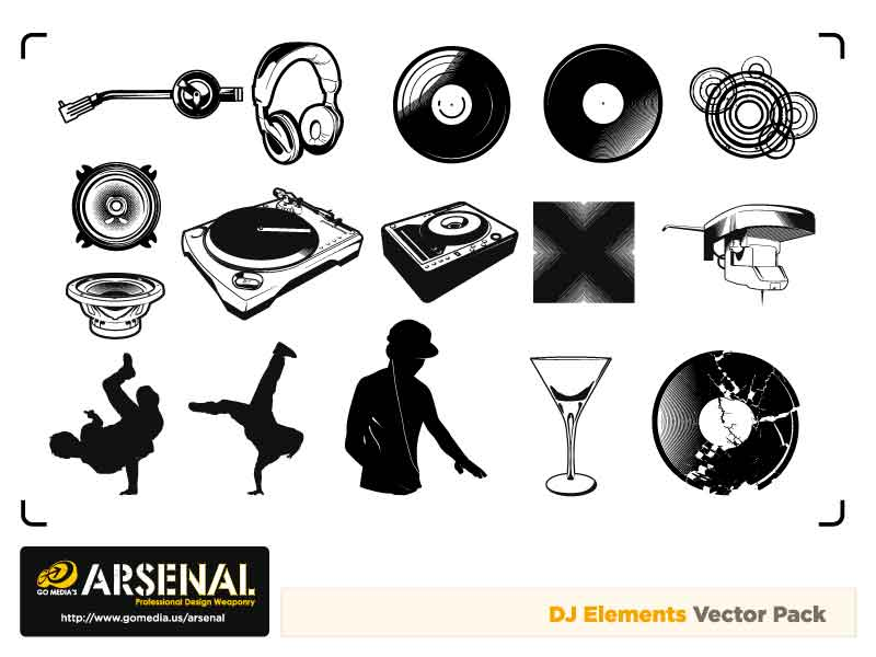 free vector Go media produced vector set15deejay trend